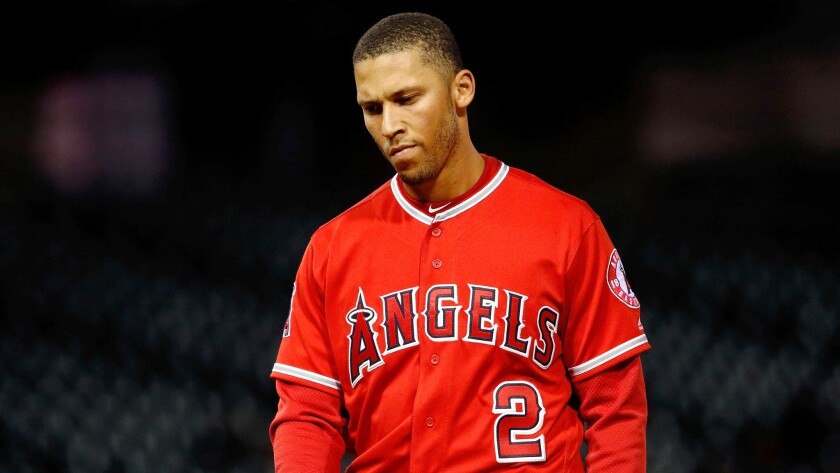 Angels shortstop Andrelton Simmons has been out since the first week of the season with an injured ankle.