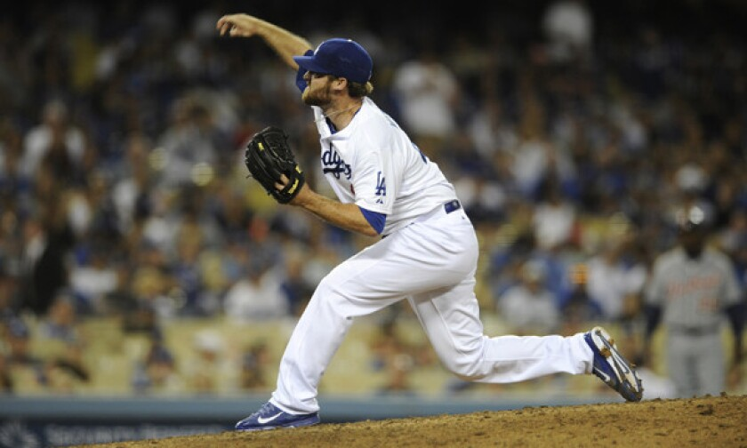 Dodgers reliever Chris Withrow's spot on the roster could be in jeopardy.