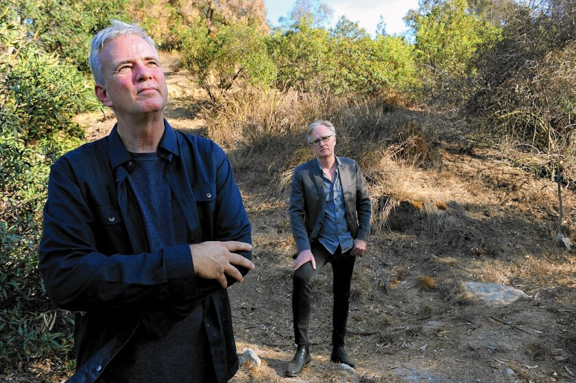UCLA's John Muir memorial chair in geography Glen MacDonald, left, with UCLA historian Jon Christensen, who thinks it's time to let go of Muir's legacy.