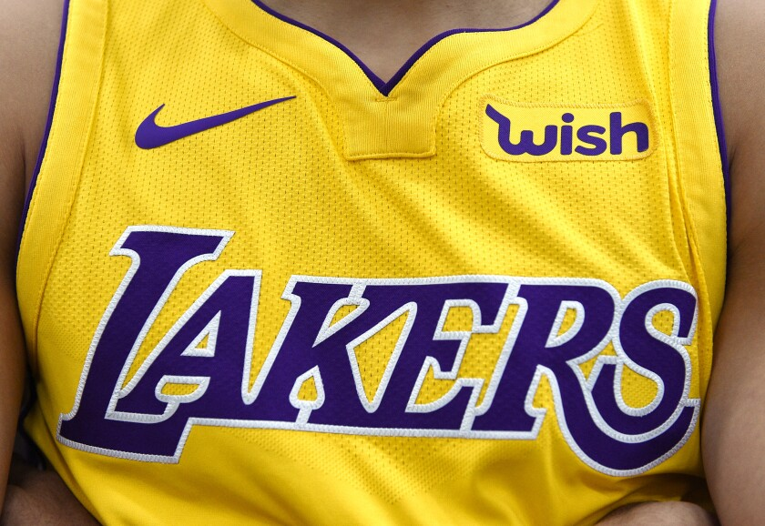 Lakers jersey.