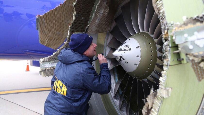 Southwest Airlines engine explodes in flight, Philadelphia, USA - 17 Apr 2018
