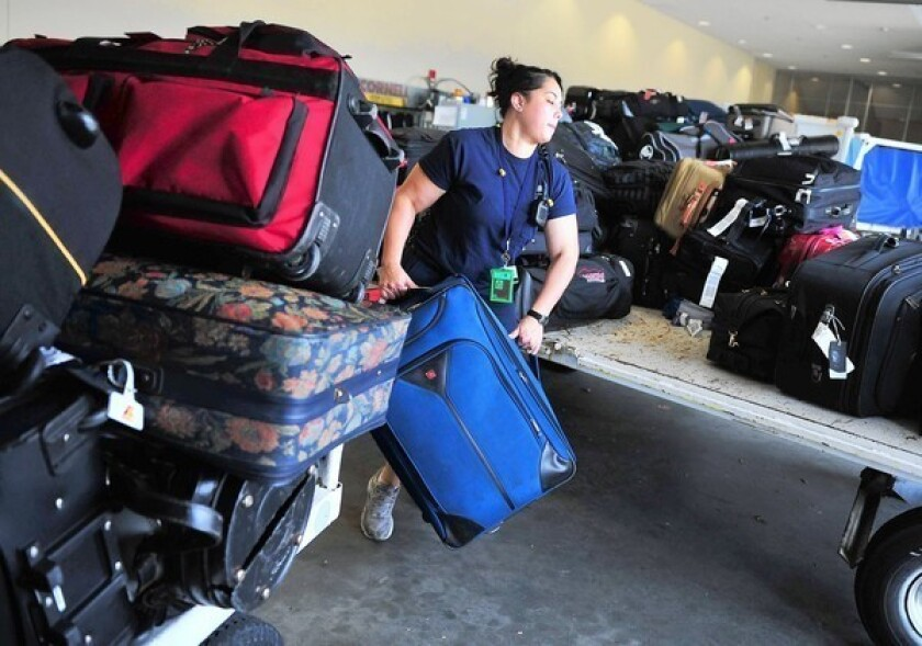 The nation's largest airlines reported the lowest rate of lost luggage in 25 years in 2012.