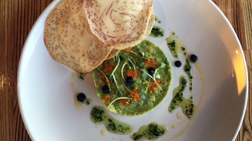 The hamachi tartare at Trust Restaurant in Hillcrest.