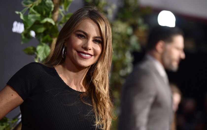 """Sofia Vergara, seen here at the Los Angeles premiere of """"Jurassic World on June 9, posts a selfie wearing little to no makeup."""