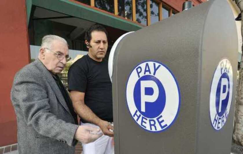 Glendale parking meter pay station
