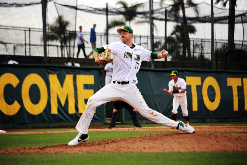 Great Oak High School alum Zack Noll pitches for the Sea Lions.