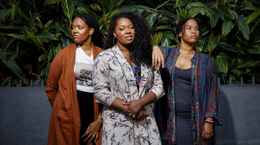 Amber Strother, from left, Paris Strother and Anita Bias of the L.A.-based R&B trio King.