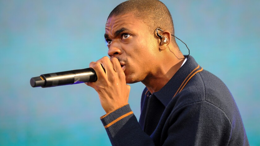 Vince Staples on the first day of FYF Fest 2016.