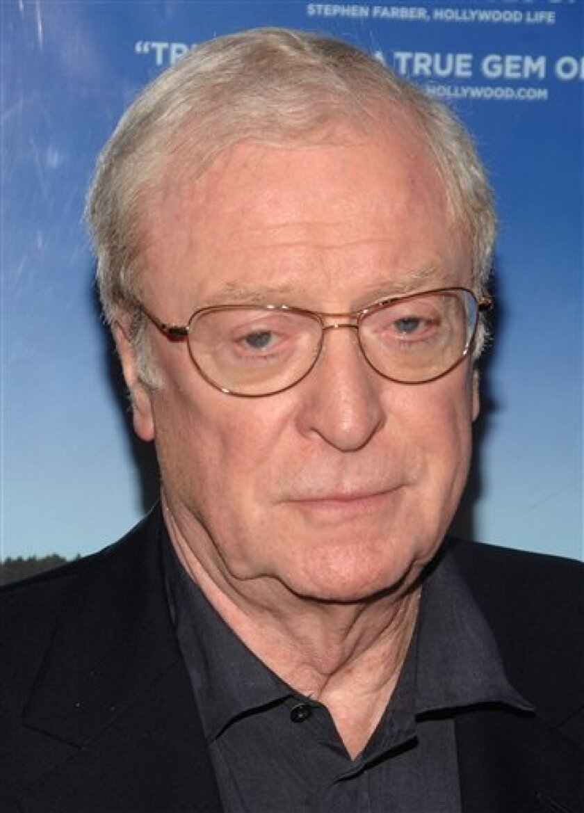 """FILE - In this April 6, 2009 file photo, actor Michael Caine arrives to the premiere of """"Is Anbody There?"""", in New York. (AP Photo/Peter Kramer, file)"""