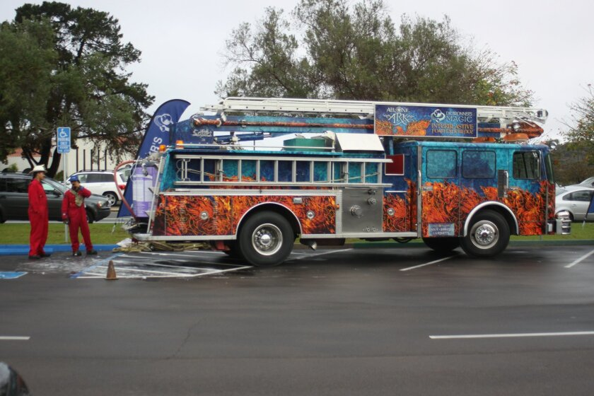 As if seeing a fire truck isn't exciting enough, this one — Dr. Bronner's Magic Interblastic Foam Experience — sprays snow!