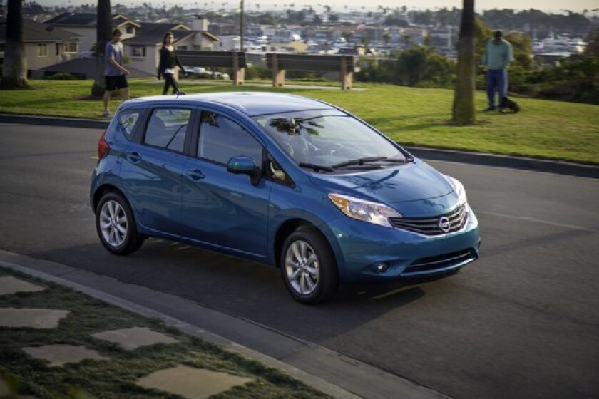 Nissan has issued a pair of recalls for more than 13,000 of its compact Versa Note hatchbacks to correct problems with loose or defective bolts.