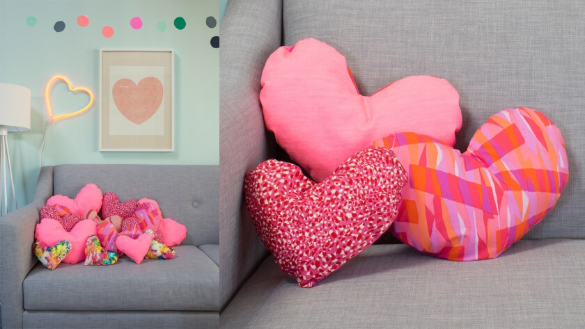 Mini Valentine's Pillows by Oh Joy