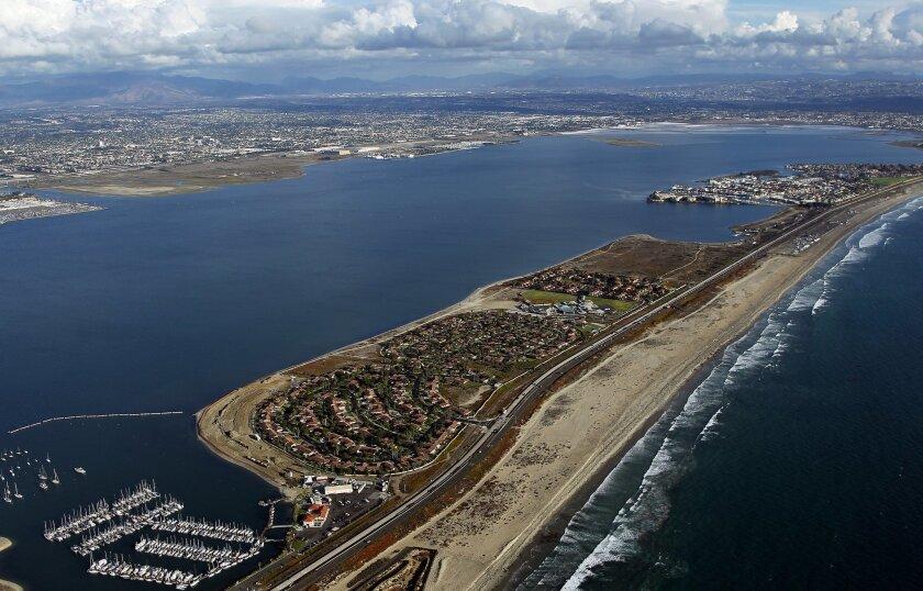 Coronado, Silver Strand and  San Diego Bay.