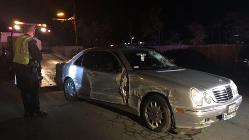 A man was fatally struck by a hit-and-run driver in Spring Valley Tuesday night. CHP officers later found a vehicle suspected in the crash a block away, on Troy Street near Sweetwater Road.