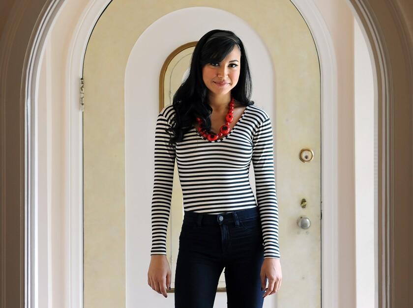"""La actriz de """"Glee"""", Naya Rivera, en su casa de Los Ángeles."""