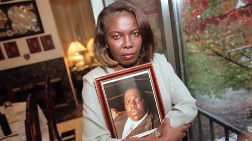 SEEKING DAMAGES: Voletta Wallace, mother of the rap star Notorious B.I.G., has filed a lawsuit accusing the LAPD of covering up police involvement in her son's killing.