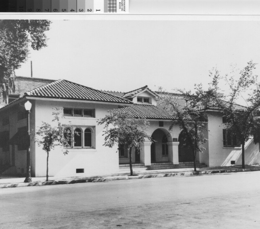 Bakersfield's original Beale Memorial Library, circa 1920s. The building has been replaced several times, but the area's public library system now faces more urgent questions about its future.