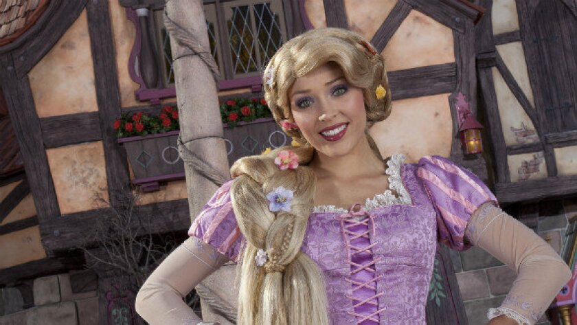 Rapunzel is one of the princesses at Disneyland's new Fantasy Faire meet-and-greet area.