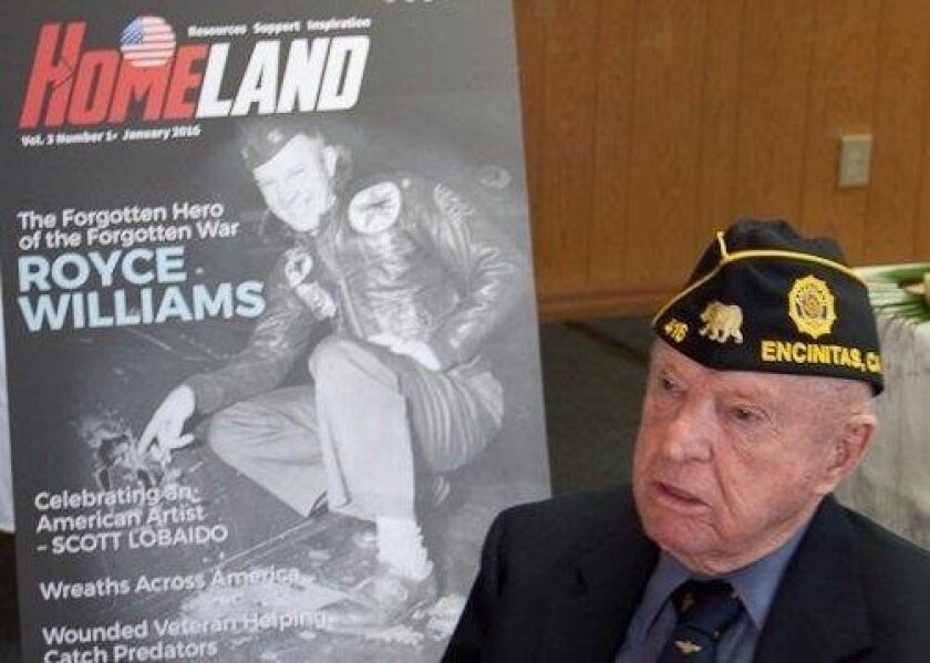 """Capt. E. Royce Williams, a fighter pilot known as """"The Forgotten Hero of the Forgotten War."""""""