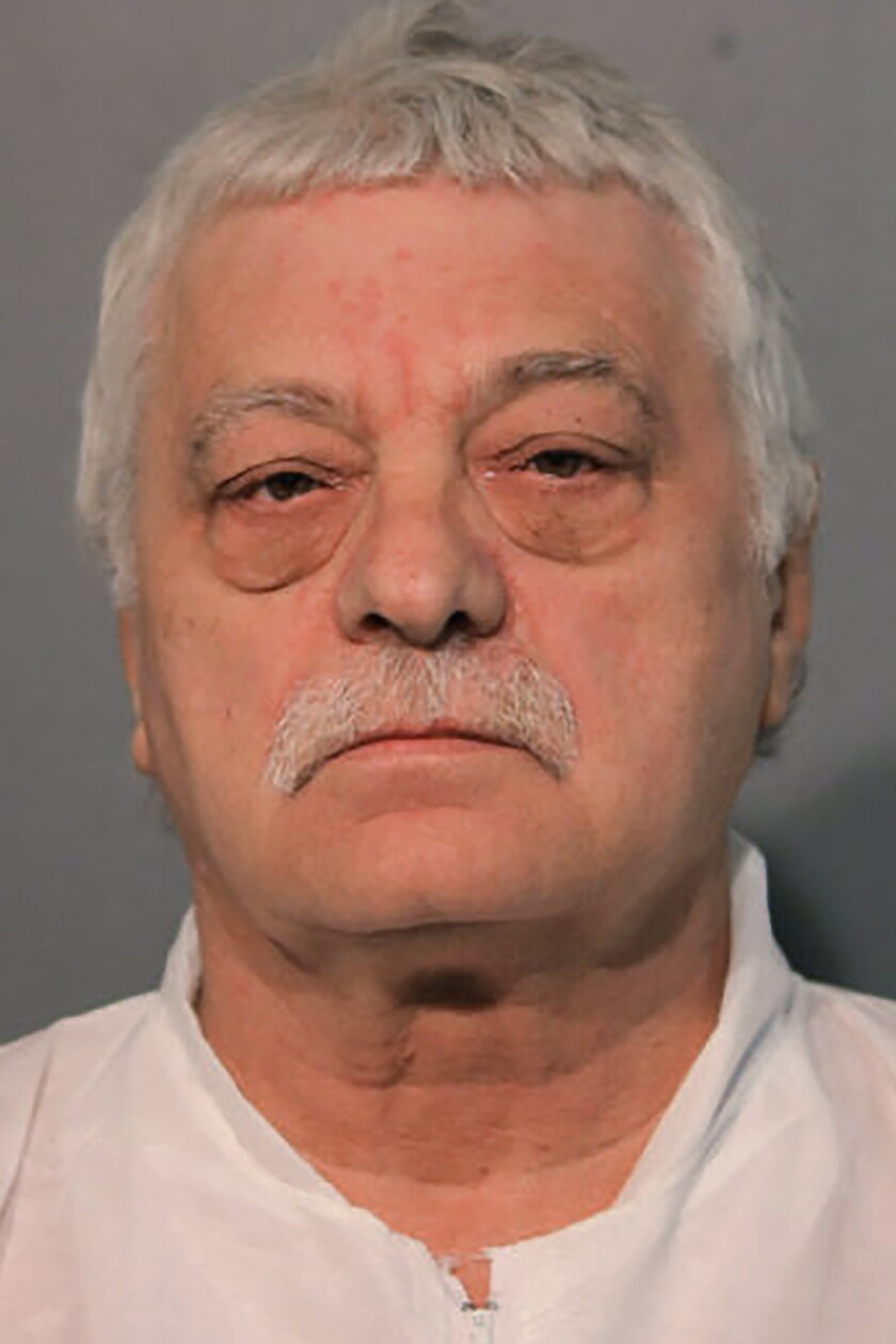 This undated photo provided by the Chicago Police Department shows Krysztof Marek. Marek has been charged with five felony counts of first degree murder in the Saturday, Oct. 12, 2019 shooting at an apartment building on Chicago's Northwest Side. (Chicago Police Department via AP)