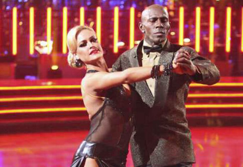 """Donald Driver and Peta Murgatroyd compete Monday on """"Dancing With the Stars."""""""