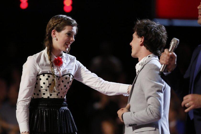 Emily Keener and Owen Danoff on 'The Voice.'