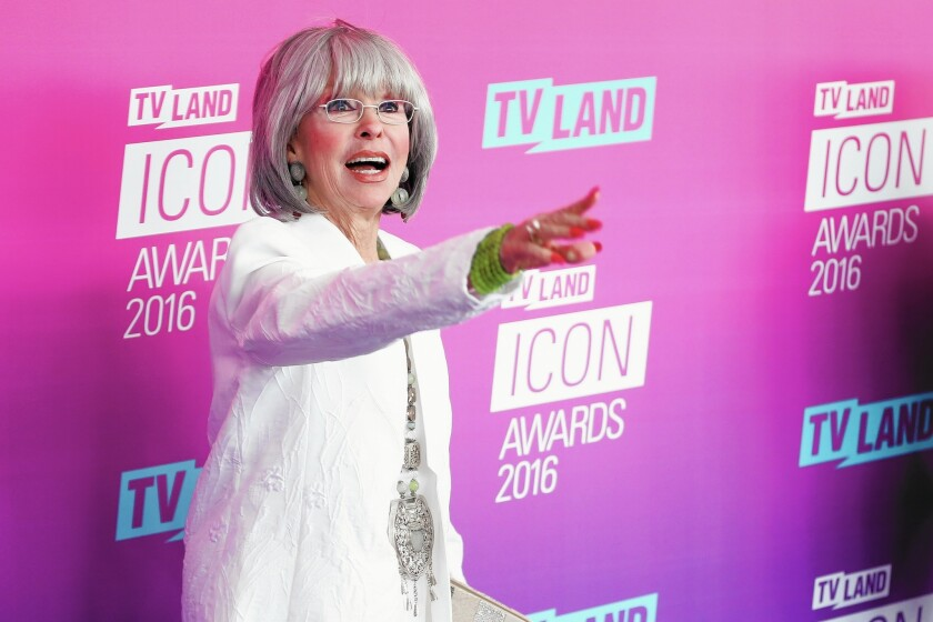 Actress and singer Rita Moreno, shown at the TV Land Icon Awards on April 10, will receive a Legends Award at this month's Newport Beach Film Festival.