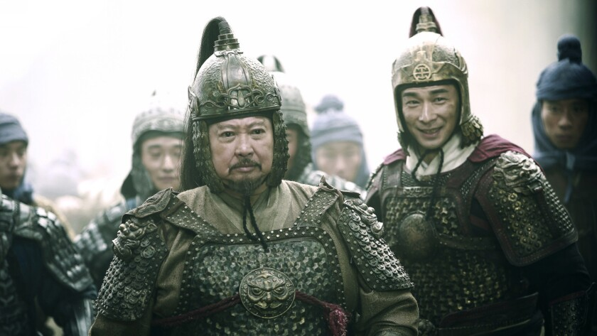 """Sammo Hung, left, and Vincent Zhao in the film """"God of War."""""""