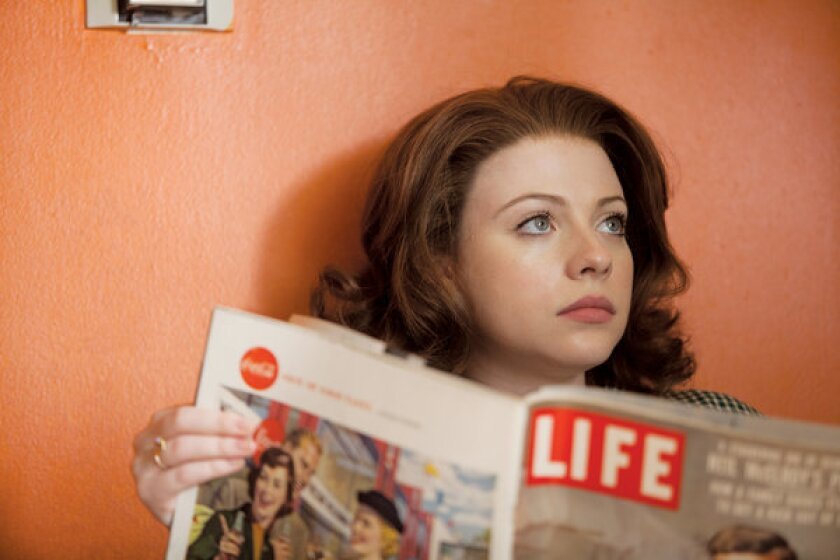 """Michelle Trachtenberg stars as Marina Oswald in """"Killing Kennedy"""" on National Geographic Channel."""