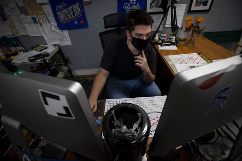 Senior Jacob Conard is the primary editor on a virtual remembrance of the Saugus High School shooting.