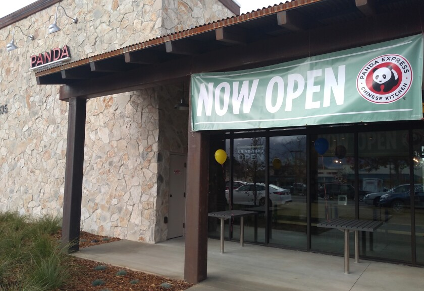 A new Panda Express restaurant opened at 1335 Main St. in Ramona on Monday, Dec. 28.