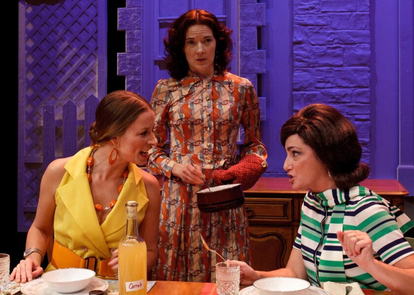 "From left: Frances Anita Rivera, Jo Anne Glover and Sandy Campbell in ""Table Manners."" Luke Olson"