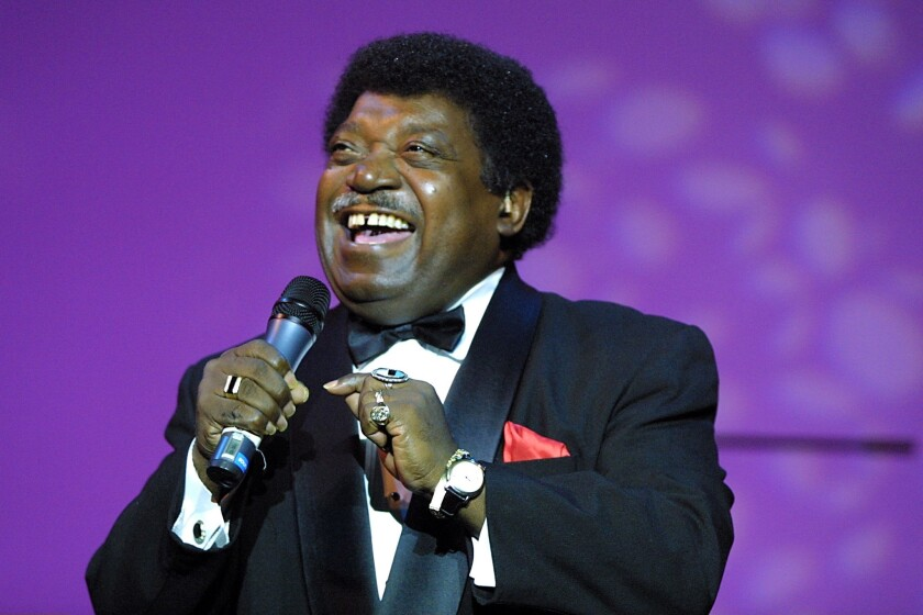 Percy Sledge performs in Berlin. The singer died on Tuesday.
