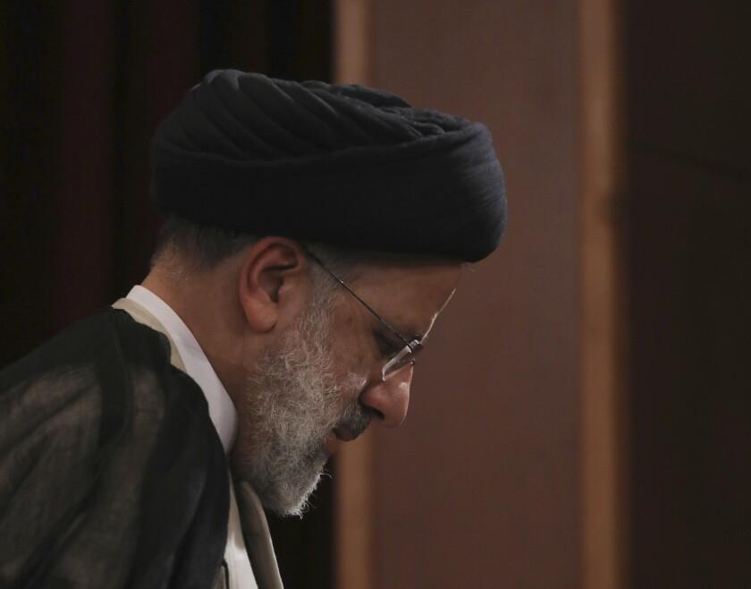 El presidente electo iraní Ebrahim Raisi en Teherán el 21 de junio del 2021.