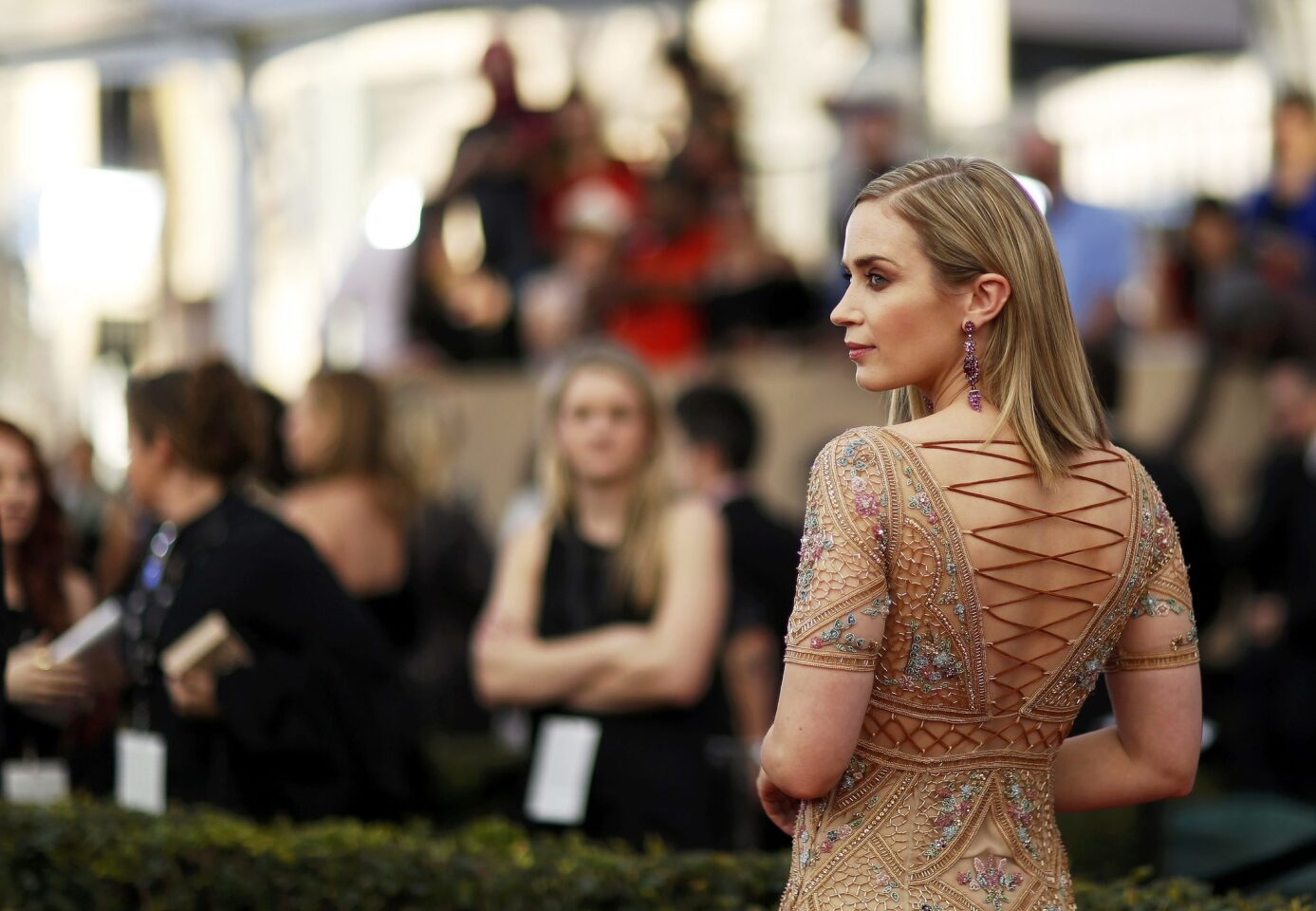 Actress Emily Blunt arrives at the 23rd Screen Actors Guild Awards in Los Angeles, California, U.S., January 29, 2017. REUTERS/Mario Anzuoni ** Usable by SD ONLY **