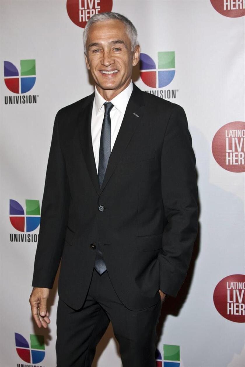 Fotografía de archivo del periodista de la cadena Univisión Jorge Ramos. EFE/Archivo