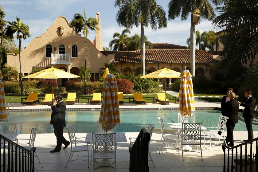 The Mar-a-Lago Club, Donald Trump's resort in Palm Beach, Fla.