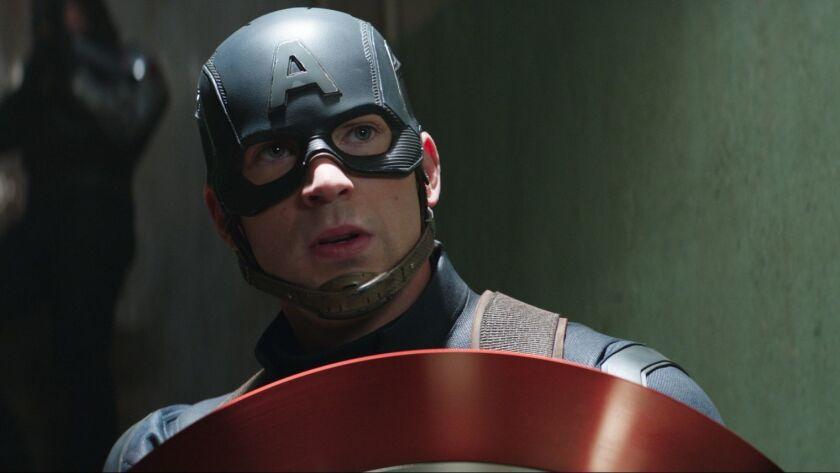 """Chris Evans as Captain America in """"Captain America: Civil War."""""""