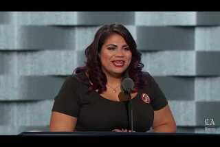 Astrid Silva, immigration activist, speaks at the Democratic National Convention