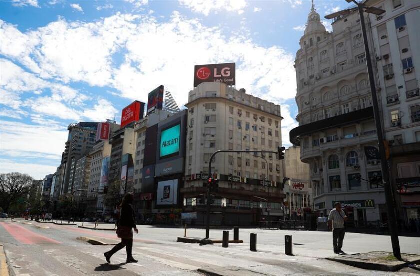 Vista general de las calles de la ciudad de Buenos Aires (Argentina). EFE/Archivo