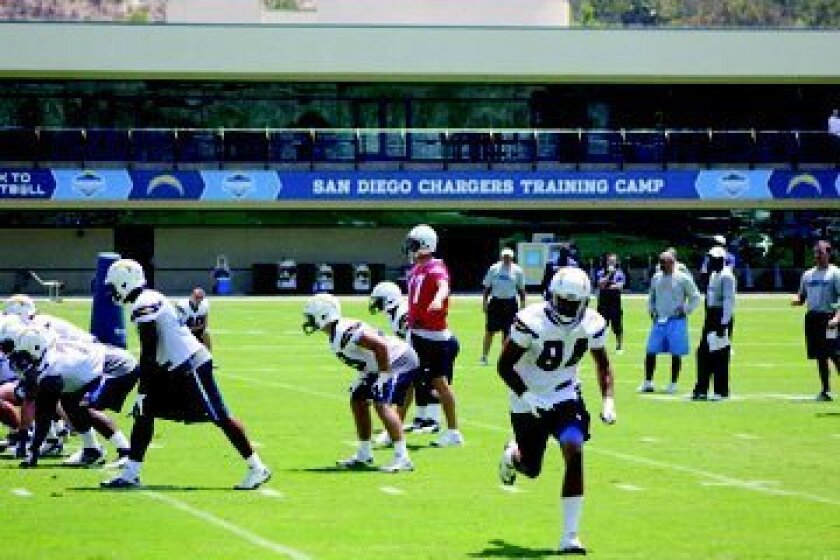 Tuesday's practice was mostly for newcomers, but a few veterans also showed up including quarterback Phillip Rivers. The team will begin full-squad practices today in preparation for the first preseason game on Aug. 9 against the Green Bay Packers.