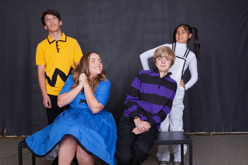 "Some of the cast members in ""A Charlie Brown Christmas."""