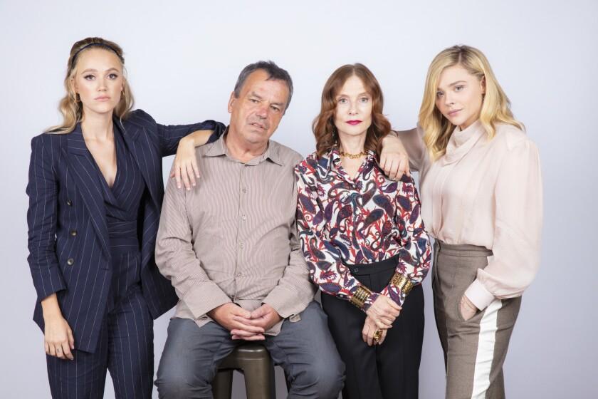 TORONTO, ONT. -- SEPTEMBER 07, 2018-- Actresses Maika Monroe, director Neil Jordan, actress Isabell