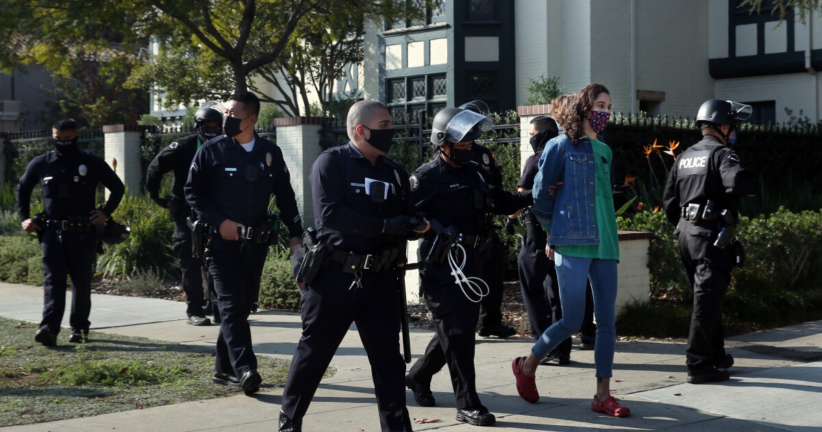 Black Lives Matter and other activists protest possible Biden appointment for Garcetti
