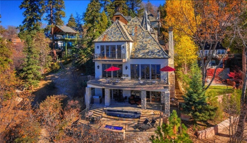 Sammy Hagar has put his French chateau-inspired estate in Lake Arrowhead back on the market for $4.7 million.