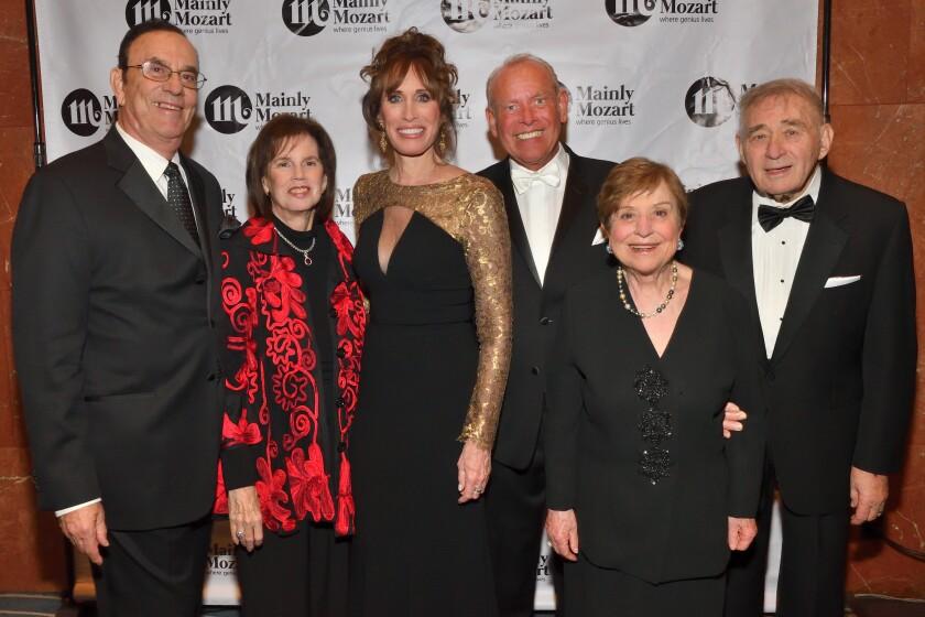Ronald and Susan Heller (gala honorary chairs; he's MM board chair), Nancy Laturno (MM CEO), Ron McMillan (gala chair), Raffaella and John Belanich (lead gala sponsors)