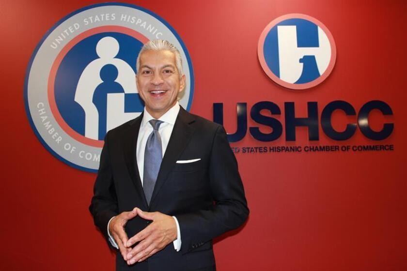 El presidente de las Cámaras de Comercio Hispanas de los Estados Unidos (USHCC), Javier Palomarez. EFE/Archivo