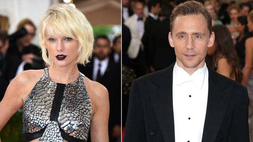 Taylor Swift and Tom Hiddleston at the 2016 Met Gala