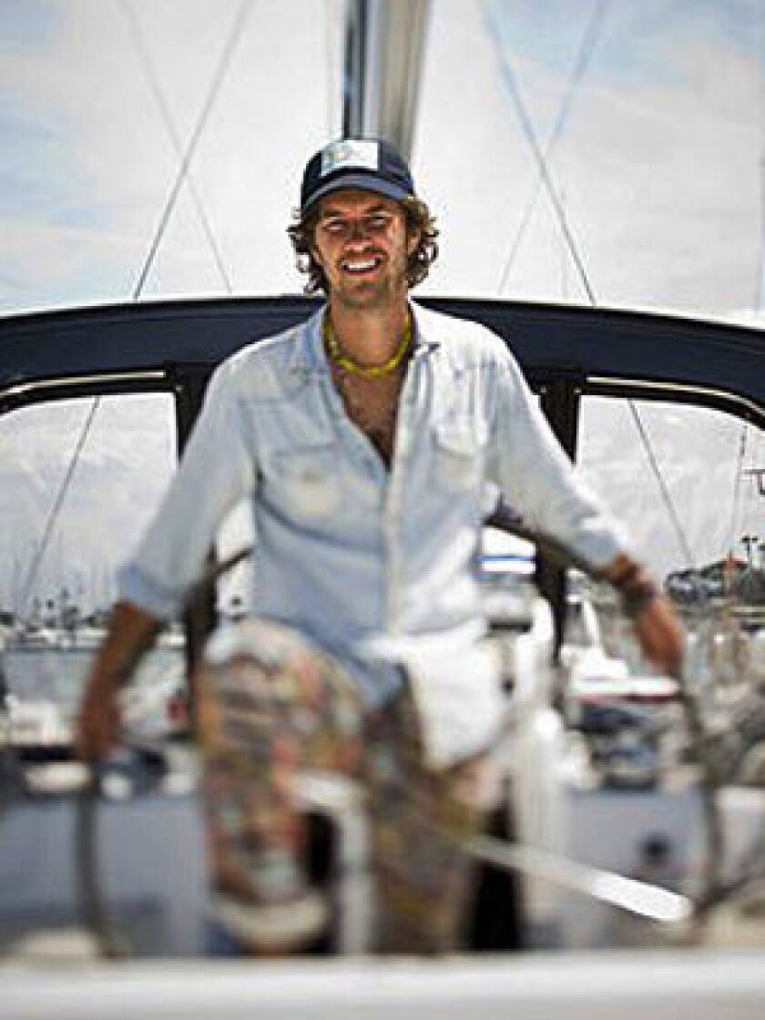BLAKE MYCOSKIE: At home, on the boat he bought before he learned to sail.