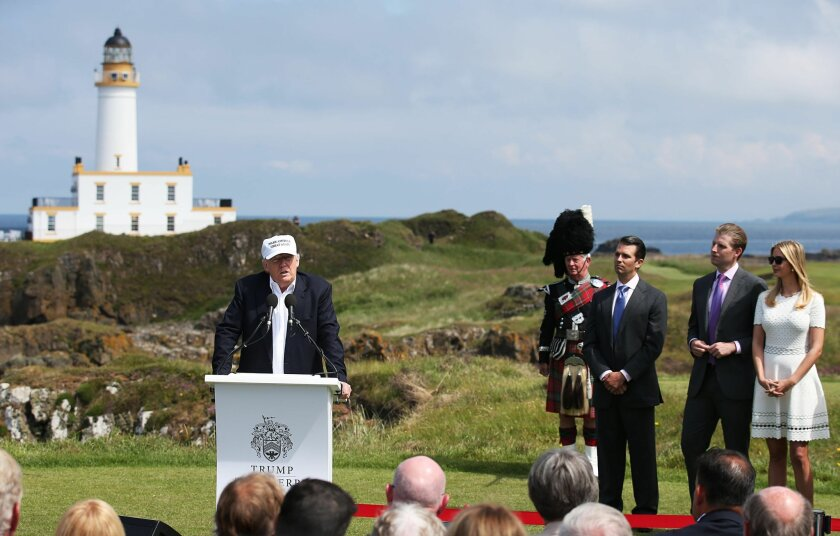 Trump Turnberry golf course in Turnberry Scotland Friday June 24, 2016.